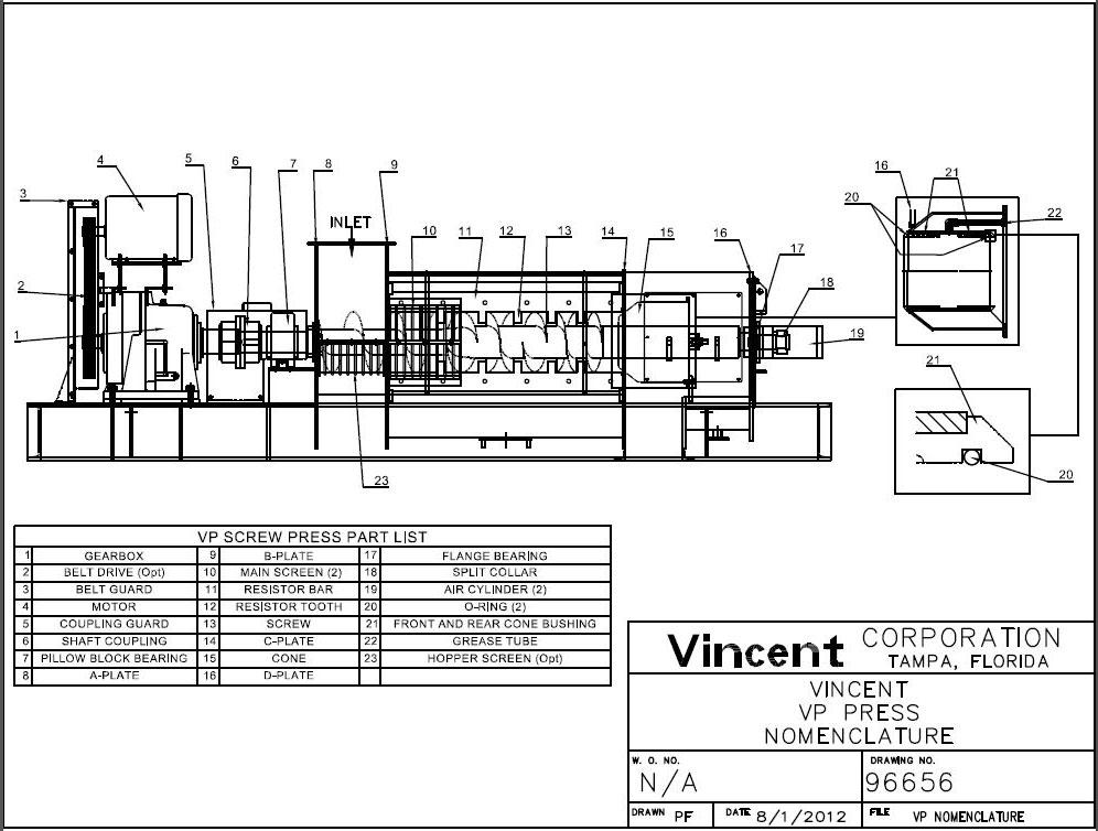 vp press operating hints and user u0026 39 s manual vp presses vincent corp